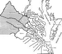 Map Of Virginia 1750.Maps Showing How Virginia Counties Were Added