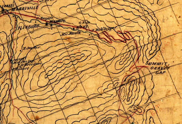 Hotchkiss Map No. 89 of Shenandoah with Grave's Gap