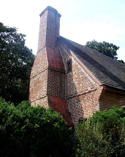 View of South Chimney of House